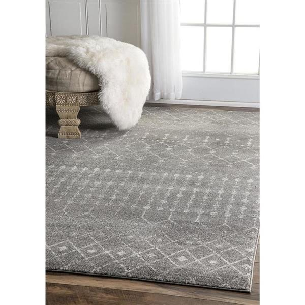 nuLOOM Blythe 7-ft x 9-ft Rectangular Dark Gray Indoor Area Rug