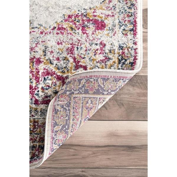 nuLOOM Sunny Wildflower 5-ft x 8-ft Pink Rectangular Indoor Area Rug
