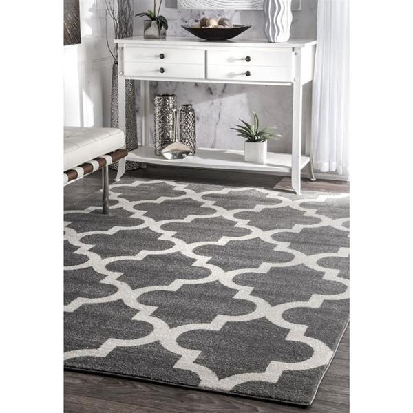 nuLOOM Meeker 5-ft x 8-ft Rectangular Gray Indoor Area Rug