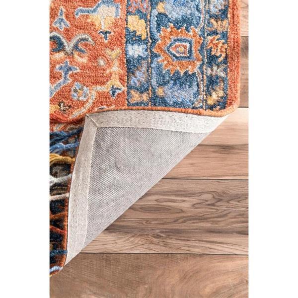 nuLOOM Sharyl Tropical 8-ft x 10-ft Orange Rectangular Indoor Handcrafted Area Rug