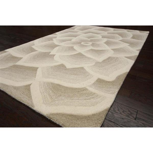 nuLOOM Modella 8-ft x 10-ft Rectangular Cream Indoor Floral Area Rug