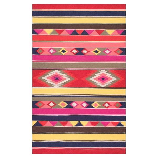 nuLOOM Ladonna Tribal 8-ft x 10-ft Multi-Color Kilim Area Rug