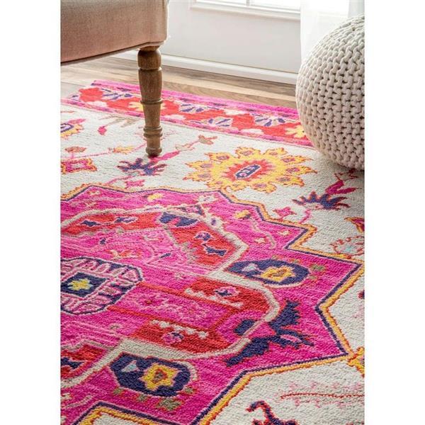 nuLOOM Treasa 8-ft x 10-ft Rectangular Pink Indoor Area Rug