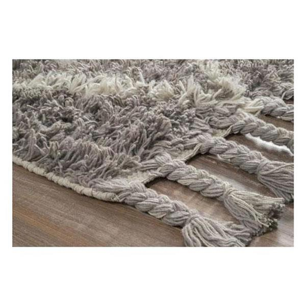 nuLOOM Fez 5-ft x 8-ft Gray Rectangular Indoor Handcrafted Area Rug