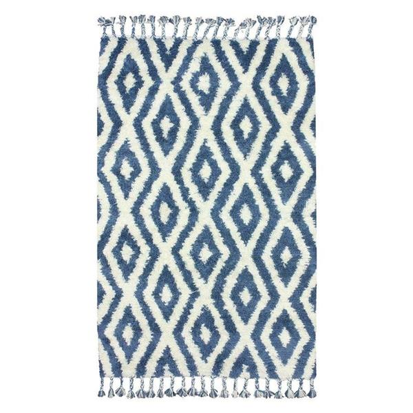 nuLOOM Dcor 5-ft x 8-ft Blue Handcrafted Area Rug