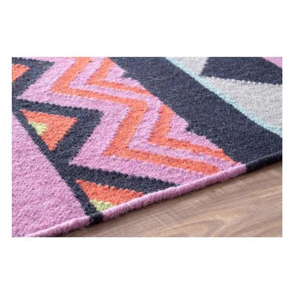 nuLOOM Flatweave 5-ft x 8-ft Rectangular Multicolor Indoor Bruna Area Rug