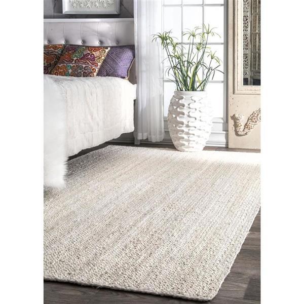 nuLOOM Rigo 5-ft x 8-ft Rectangular White Indoor Area Rug