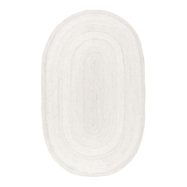 nuLOOM Rigo 5-ft x 8-ft Oval White Indoor Area Rug
