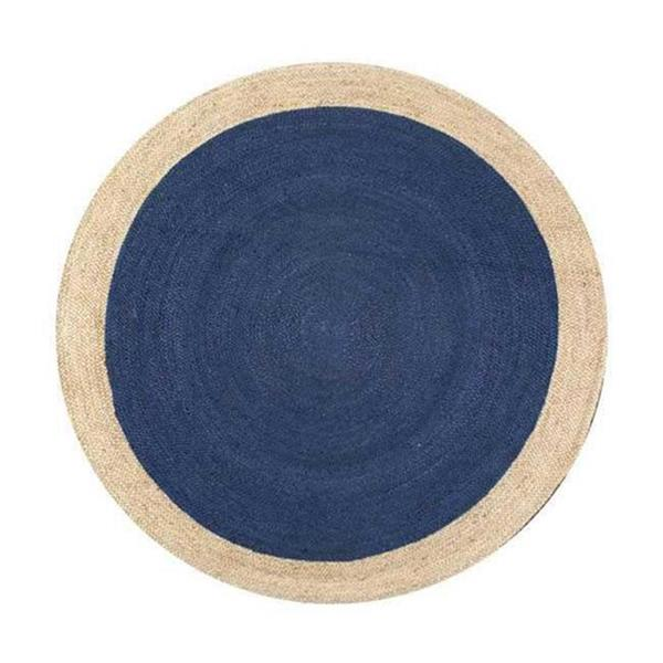 nuLOOM Elenora 8-ft x 8-ft Blue Handcrafted Round Area Rug