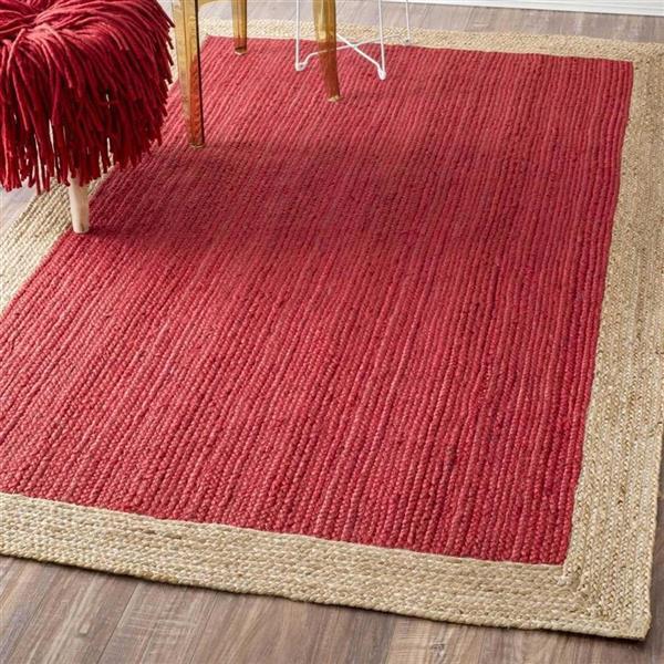nuLOOM Eleonora 5-ft x 8-ft Red Rectangular Indoor Area Rug