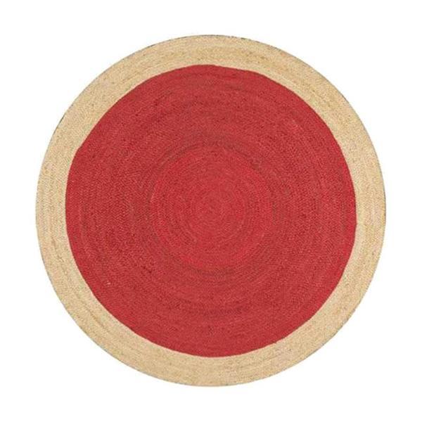nuLOOM Eleonora 6-ft x 6-ft Red Round Indoor Area Rug