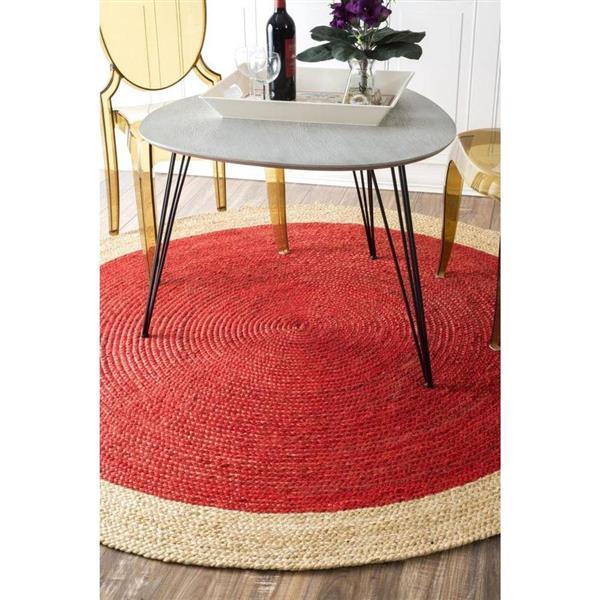 nuLOOM Eleonora 6-ft x 9-ft Red Rectangular Indoor Area Rug