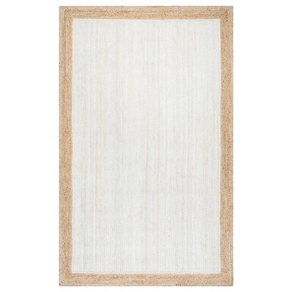 nuLOOM Eleonora 6-ft x 9-ft White Rectangular Indoor Handcrafted Area Rug