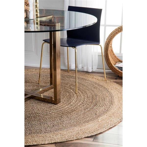nuLOOM Eleonora 6-ft x 9-ft Gray Rectangular Indoor Handcrafted Area Rug