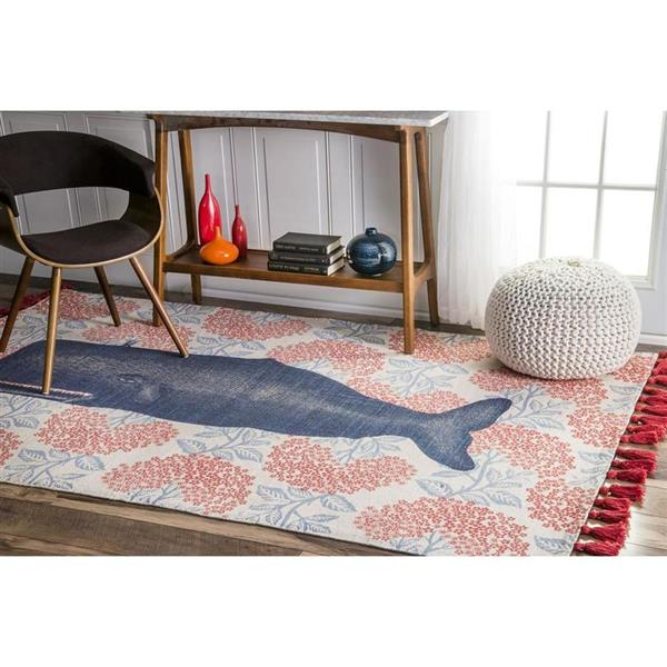 nuLOOM Thomas Paul 5-ft x 8-ft Red Rectangular Indoor Handcrafted Area Rug