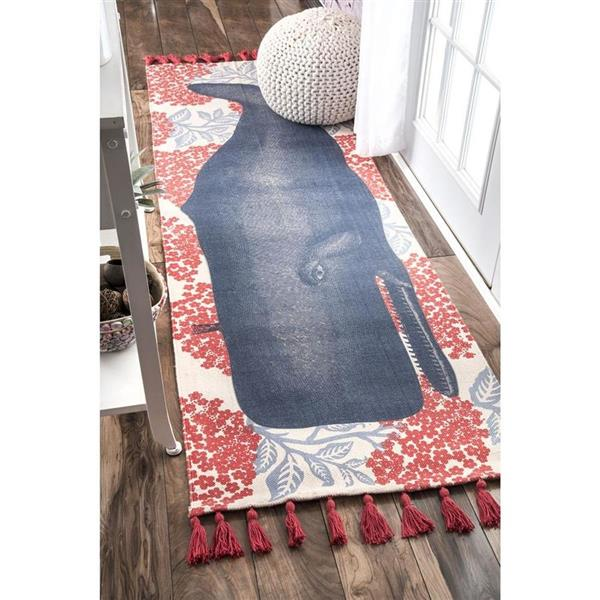 nuLOOM Thomas Paul 6-ft x 9-ft Red Rectangular Indoor Handcrafted Area Rug
