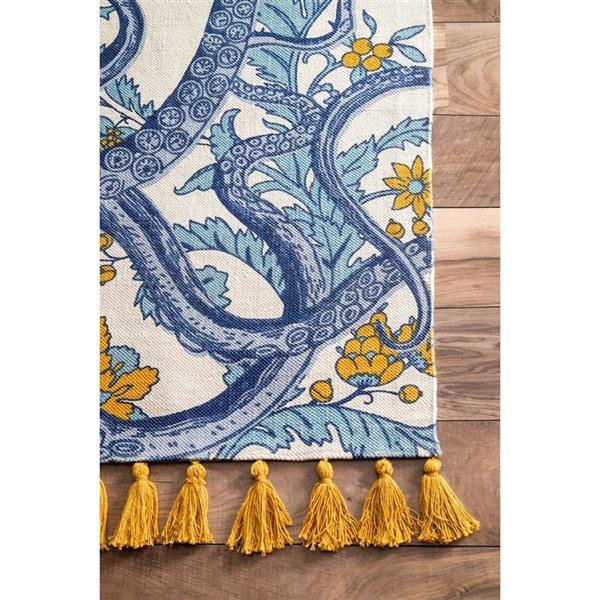 nuLOOM Thomas Paul 5-ft x 8-ft Blue Rectangular Indoor Handcrafted Area Rug