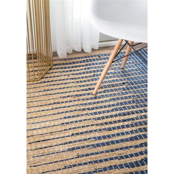 nuLOOM Hulsey 8-ft x 10-ft Blue Rectangular Indoor Handcrafted Area Rug