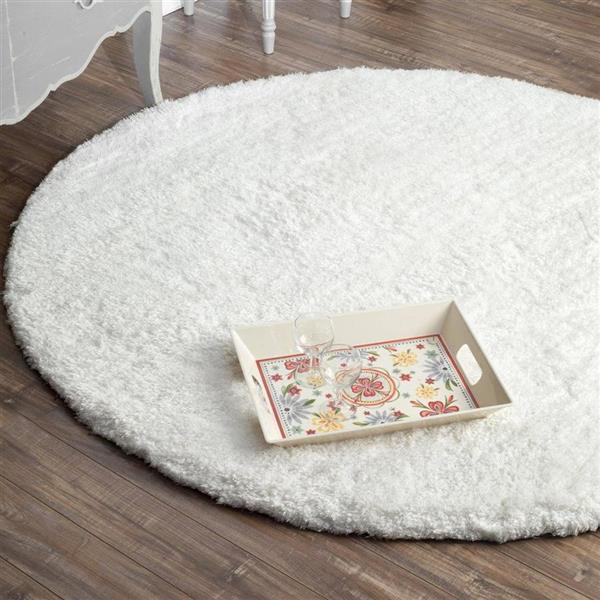 nuLOOM Magnifique 5-ft x 8-ft Rectangular White Indoor Area Rug