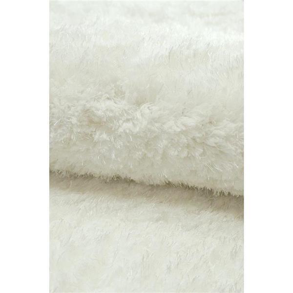 nuLOOM Magnifique 6-ft Round White Indoor Area Rug