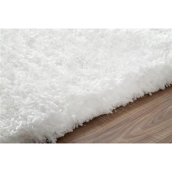 nuLOOM Magnifique 6-ft x 9-ft Rectangular White Indoor Area Rug