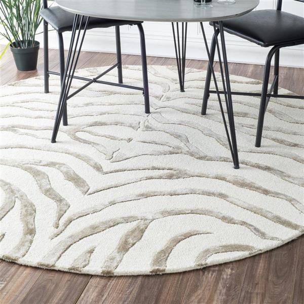nuLOOM Earth 4-ft x 6-ft Gray Handcrafted Area Rug