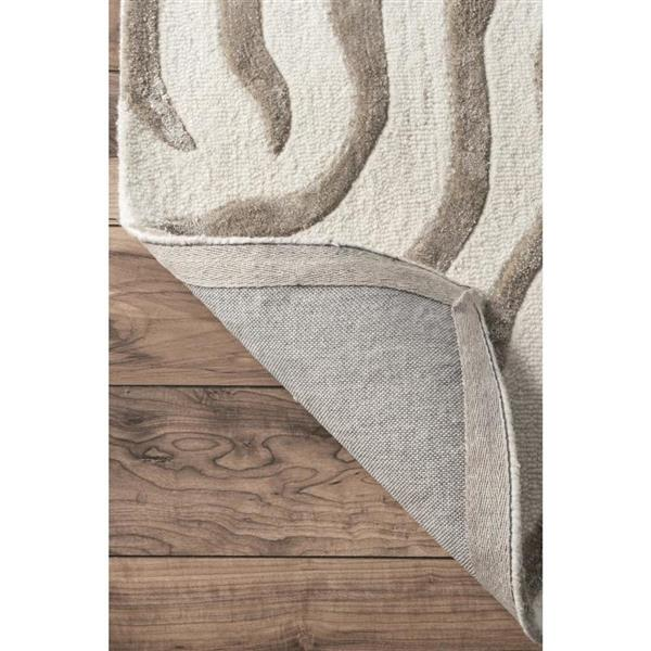 nuLOOM Earth 5-ft x 8-ft Gray Handcrafted Area Rug