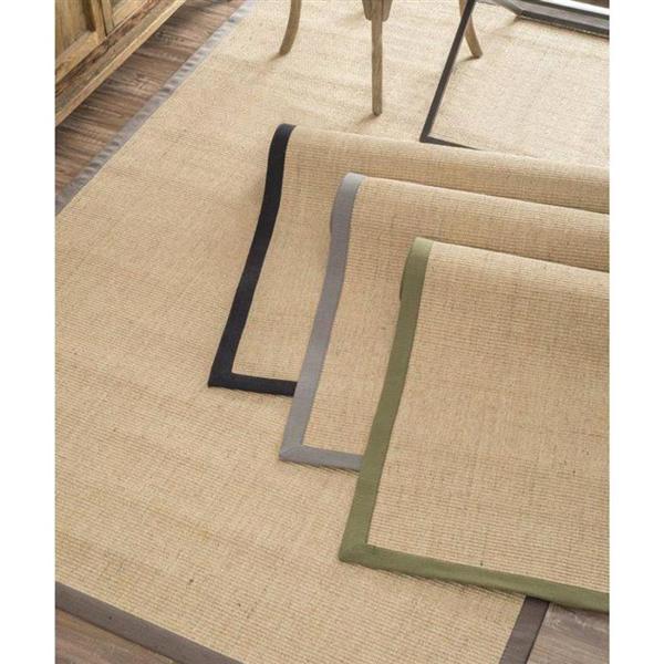 nuLOOM Natura 6-ft x 9-ft Rectangular Brown Indoor Area Rug