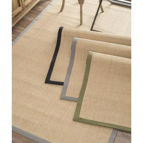 nuLOOM Natura 5-ft x 8-ft Rectangular Cream Indoor Area Rug