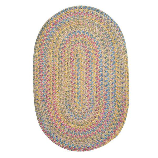 Colonial Mills Botanical Isle 4-ft Kiwi Round Area Rug