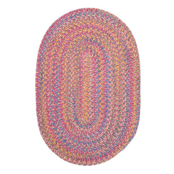 Colonial Mills Botanical Isle 7-ft x 9-ft Punch Oval Area Rug