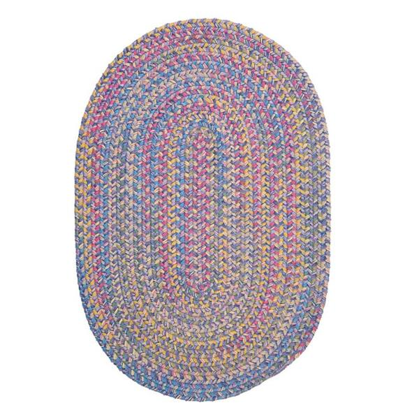 Colonial Mills Botanical Isle 8-ft x 11-ft Amethyst Oval Area Rug