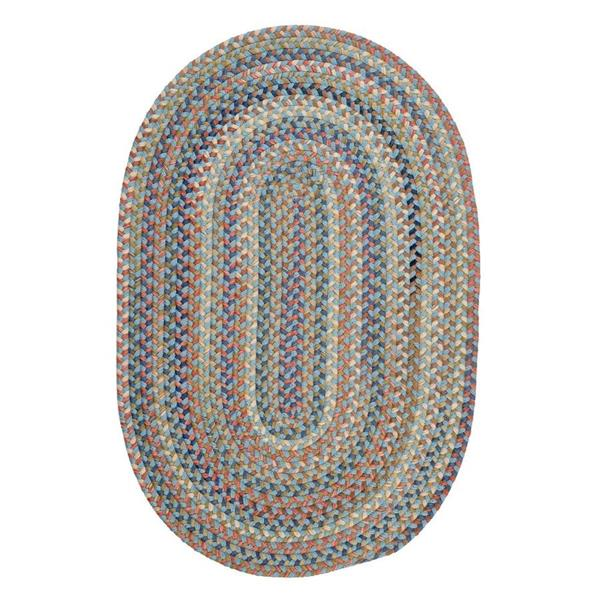 Colonial Mills Cedar Cove 5-ft x 8-ft Handcrafted Light Blue Oval Area Rug