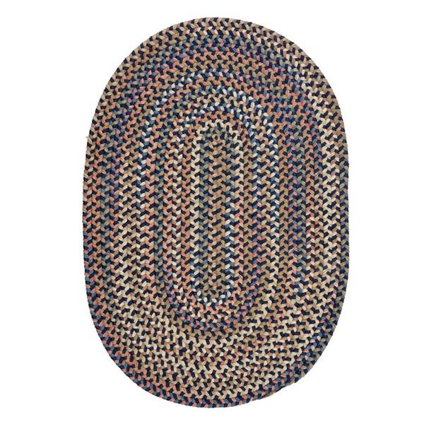 Colonial Mills Cedar Cove 8-ft x 11-ft Handcraftd Navy Oval Area Rug