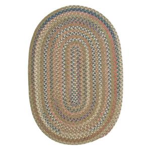 Colonial Mills Cedar Cove 2-ft x 10-ft Olive Oval Runner