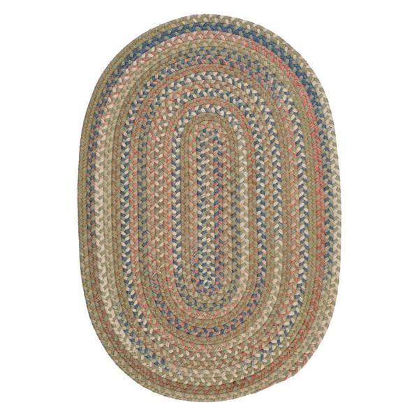 Colonial Mills Cedar Cove 2-ft x 12-ft Olive Oval Runner
