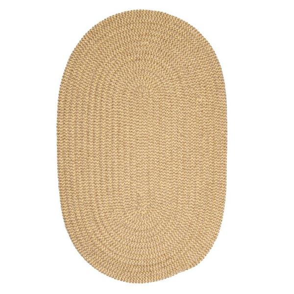 Colonial Mills Softex Check 8-ft x 11-ft Pale Banana Check Area Rug
