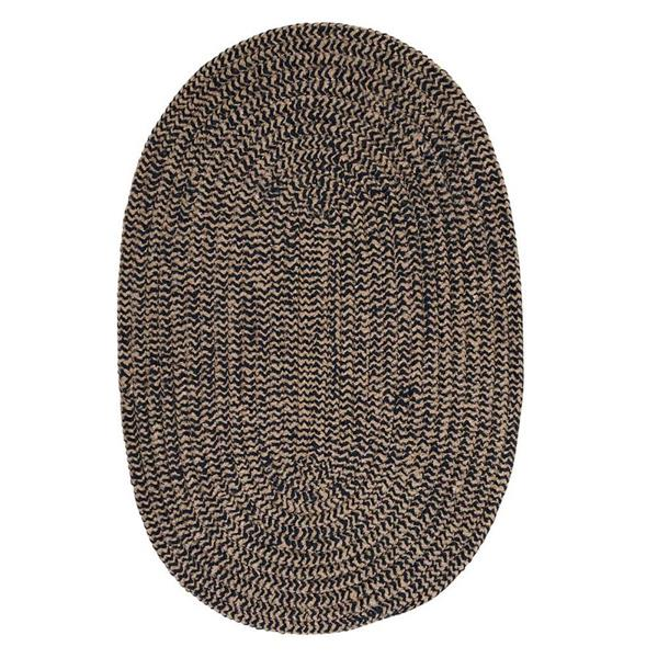 Colonial Mills Softex Check 8-ft Round Navy Check Area Rug