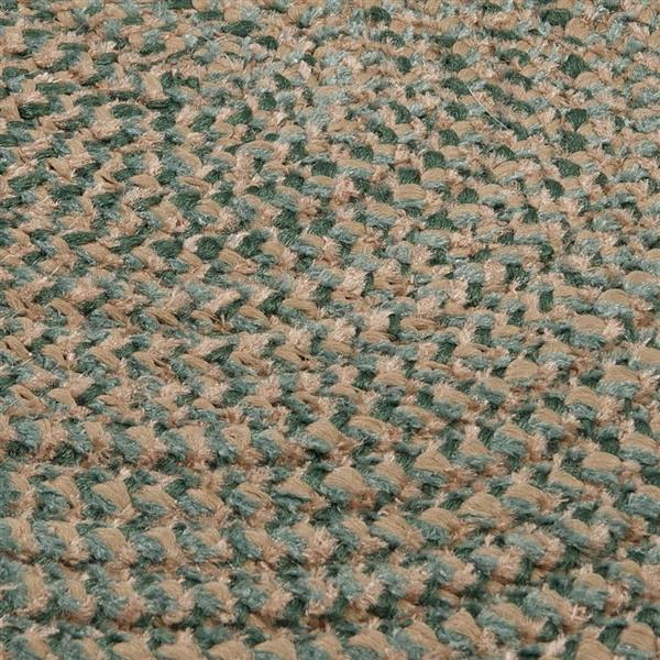 Colonial Mills Softex Check 2-ft x 8-ft Myrtle Green Check Area Rug Runner