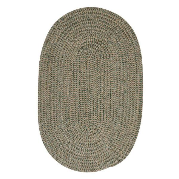 Colonial Mills Softex Check 6-ft Round Myrtle Green Check Area Rug