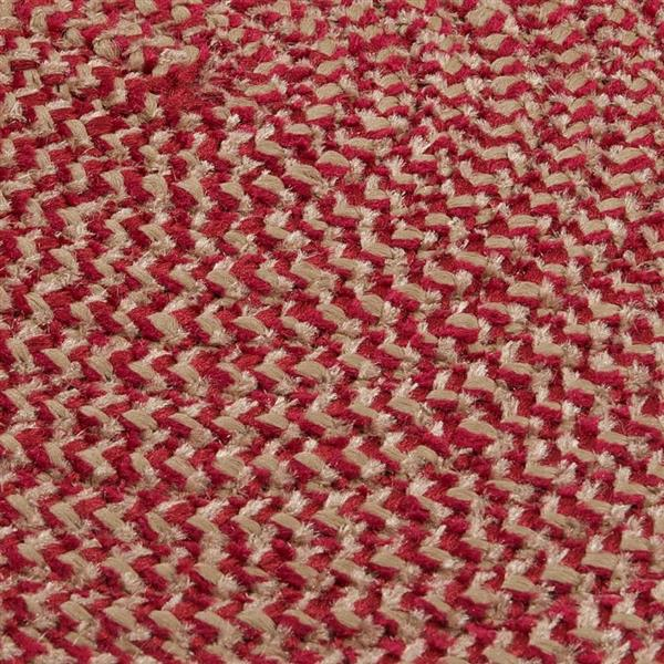 Colonial Mills Softex Check 4-ft Round Sangria Check Area Rug