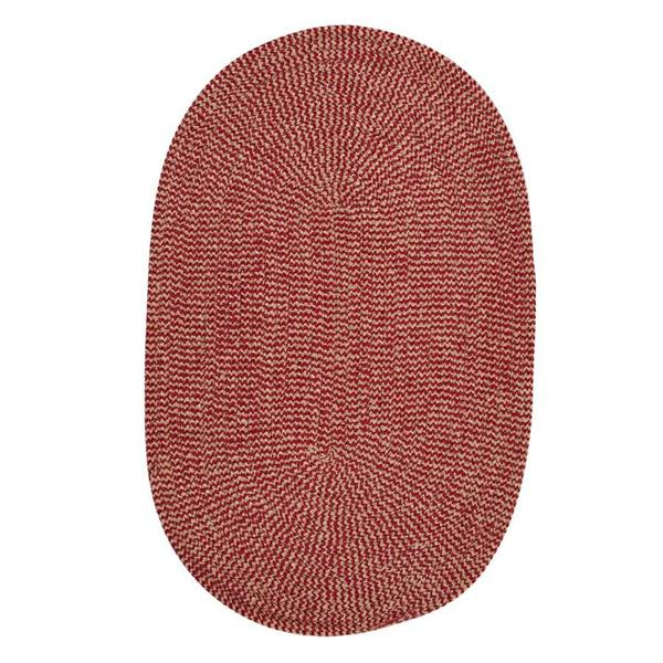 Colonial Mills Softex Check 5-ft x 8-ft Oval Indoor Sangria Area Rug