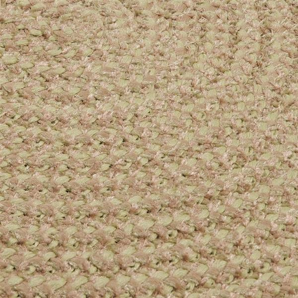 Colonial Mills Softex Check 4-ft Round Celery Check Area Rug