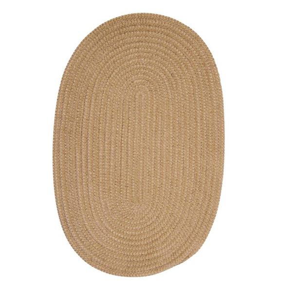 Colonial Mills Softex Check 8-ft Round Buff Check Area Rug