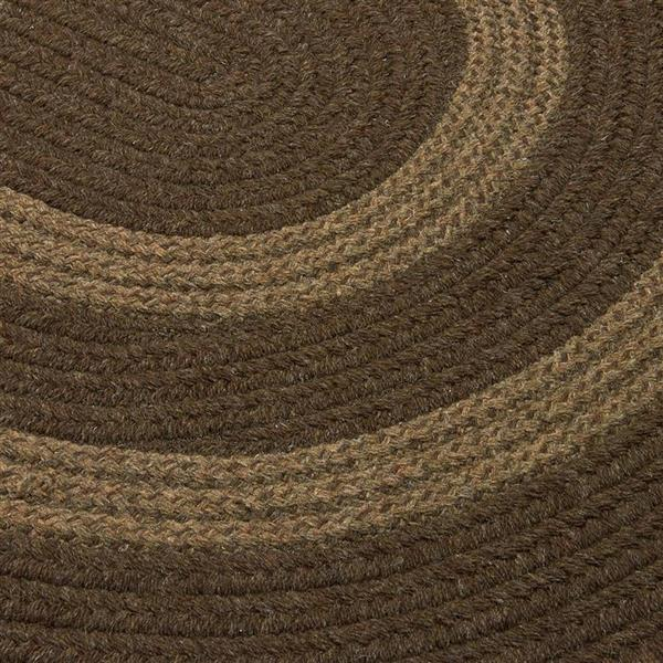 Colonial Mills Graywood 4-ft x 6-ft Brown Oval Indoor Handcrafted Area Rug