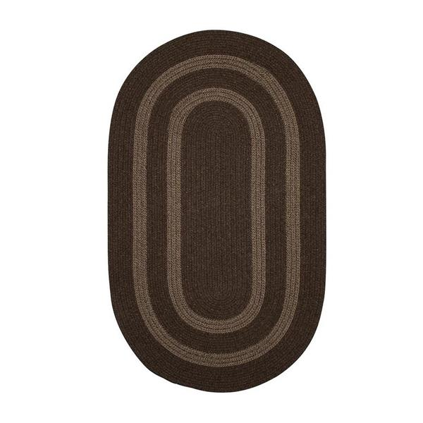 Colonial Mills Graywood 8-ft x 11-ft Brown Oval Area Rug