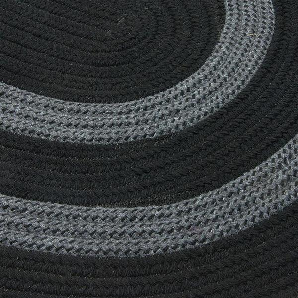 Colonial Mills Graywood 5-ft x 6-ft Black Round Area Rug