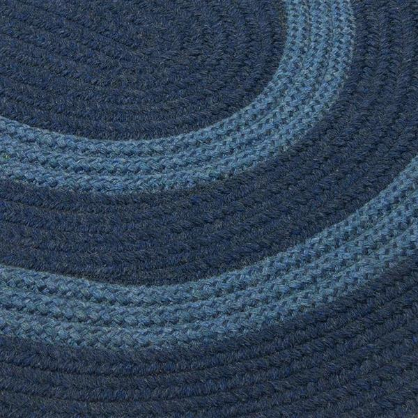 Colonial Mills Graywood 8-ft x 11-ft Navy Oval Indoor Handcrafted Area Rug