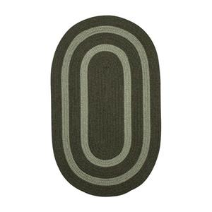 Colonial Mills Graywood 4-ft x 6-ft Moss Green Oval Area Rug
