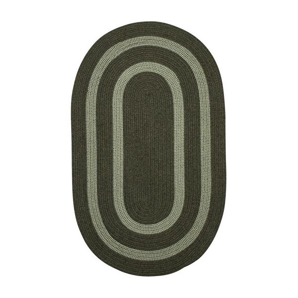 Colonial Mills Graywood 8-ft x 11-ft Moss Green Oval Indoor Handcrafted Area Rug